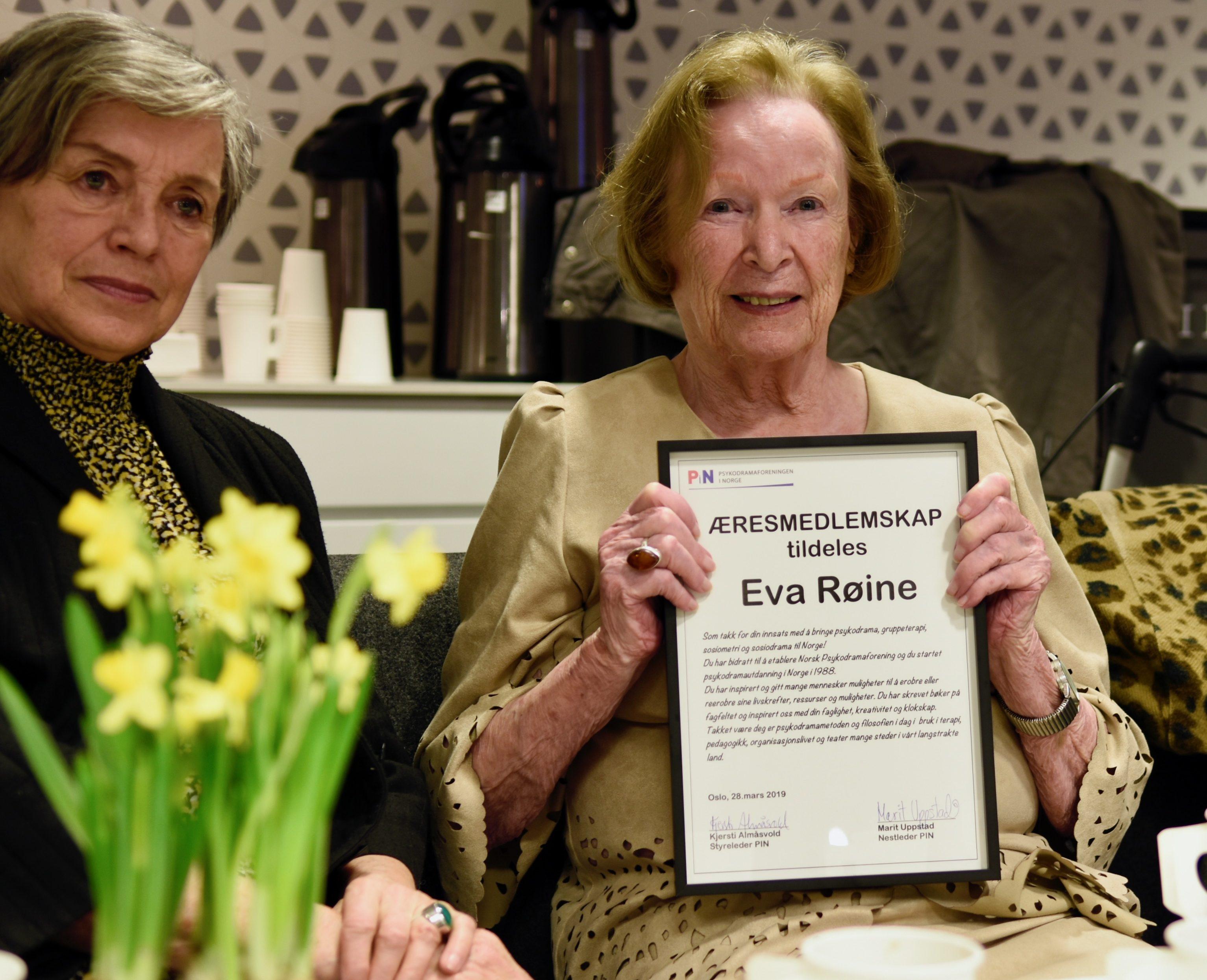 Intervju med æresmedlem Eva Røine